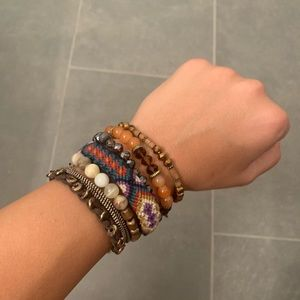 Stackable Beaded and Braided Bracelets